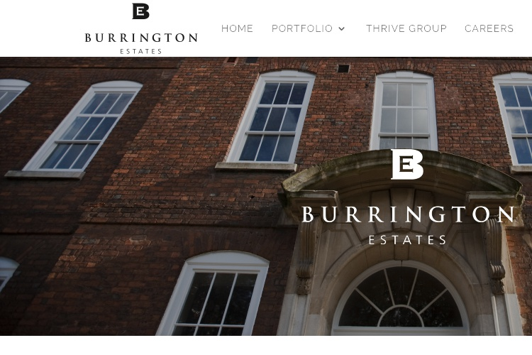 Screenshot of Burrington Estates Website Disclaimer